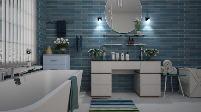 The Most Popular Colour For Your Bathroom A Blue Bathroom